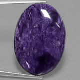 thumb image of 16.7ct Oval Cabochon Violet Charoite (ID: 457059)
