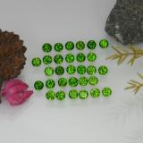 thumb image of 2.1ct Round Facet Green Chrome Diopside (ID: 468222)
