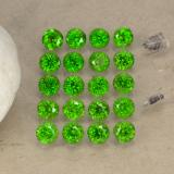 thumb image of 1.4ct Round Facet Green Chrome Diopside (ID: 468245)