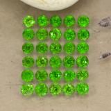 thumb image of 0.1ct Round Facet Green Chrome Diopside (ID: 468296)