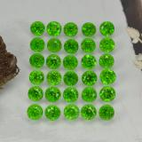 thumb image of 2.1ct Round Facet Green Chrome Diopside (ID: 468300)