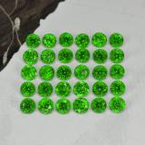 thumb image of 2.1ct Round Facet Green Chrome Diopside (ID: 468301)