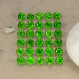 thumb image of 2.1ct Round Facet Green Chrome Diopside (ID: 468304)