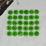 thumb image of 2.1ct Round Facet Green Chrome Diopside (ID: 468337)