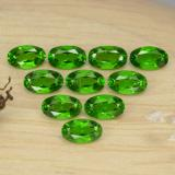 0.25 ct Oval facettiert Intense Green Chromdiopsid Edelstein 4.92 mm x 3 mm (Photo B)