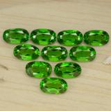 0.26 ct Oval Facet Medium Green Chrome Diopside Gem 2.90 mm x 3 mm (Photo B)