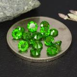 thumb image of 1.9ct Round Facet Green Chrome Diopside (ID: 473381)