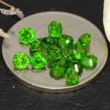 thumb image of 2.1ct Round Facet Green Chrome Diopside (ID: 473387)