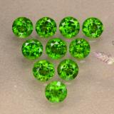 thumb image of 1.3ct Round Facet Green Chrome Diopside (ID: 473860)