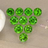 thumb image of 0.1ct Round Facet Green Chrome Diopside (ID: 473861)