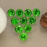thumb image of 1.3ct Round Facet Green Chrome Diopside (ID: 473863)