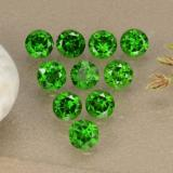 thumb image of 1.3ct Round Facet Green Chrome Diopside (ID: 473867)