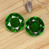 thumb image of 0.9ct Round Facet Green Chrome Diopside (ID: 477062)