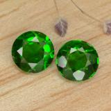 thumb image of 0.7ct Round Facet Green Chrome Diopside (ID: 477065)