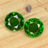 thumb image of 1ct Round Facet Green Chrome Diopside (ID: 477070)