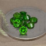 thumb image of 0.1ct Round Facet Green Chrome Diopside (ID: 478695)