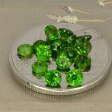 thumb image of 2.1ct Round Facet Green Chrome Diopside (ID: 480335)