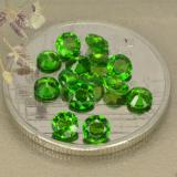thumb image of 1.6ct Round Facet Green Chrome Diopside (ID: 480338)