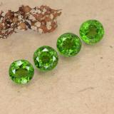 0.64 ct Round Facet Medium-Dark Green Chrome Diopside Gem 4.82 mm  (Photo B)