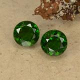 thumb image of 1.1ct Round Facet Green Chrome Diopside (ID: 489019)