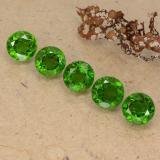 thumb image of 3ct Round Facet Green Chrome Diopside (ID: 489057)
