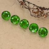 thumb image of 3.1ct Round Facet Green Chrome Diopside (ID: 489061)
