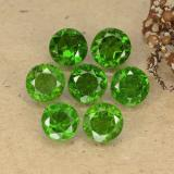 thumb image of 3.6ct Round Facet Green Chrome Diopside (ID: 489078)
