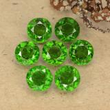 thumb image of 3.7ct Round Facet Green Chrome Diopside (ID: 489079)