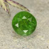 thumb image of 0.5ct Round Facet Green Chrome Diopside (ID: 490740)