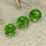 thumb image of 0.4ct Round Facet Green Chrome Diopside (ID: 490742)