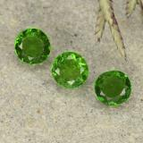 thumb image of 0.6ct Round Facet Green Chrome Diopside (ID: 490743)