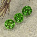 thumb image of 0.6ct Round Facet Green Chrome Diopside (ID: 490744)