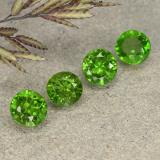 thumb image of 0.4ct Round Facet Green Chrome Diopside (ID: 490747)