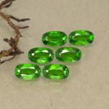 thumb image of 1.5ct Oval Facet Green Chrome Diopside (ID: 493752)
