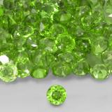 0.03 ct Round Facet Medium Green Chrome Diopside Gem 1.78 mm  (Photo B)