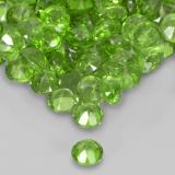 0.03 ct Round Facet Medium Green Chrome Diopside Gem 1.78 mm  (Photo C)