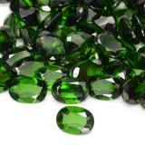 0.78 ct Ovale facette Vert foncé Diopside Chrome gemme 7.05 mm x 5.1 mm (Photo B)