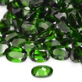 0.78 ct Ovale facette Vert foncé Diopside Chrome gemme 7.05 mm x 5.1 mm (Photo C)