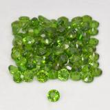 0.03 ct Sfaccettatura rotonda Seaweed Green Cromo diopside Gem 1.74 mm  (Photo B)