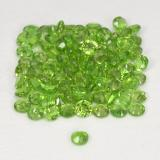 0.03 ct Facette ronde Vert éclatant Diopside Chrome gemme 1.71 mm  (Photo C)