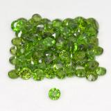 0.03 ct Facette ronde Vert éclatant Diopside Chrome gemme 1.76 mm  (Photo B)