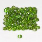 0.03 ct Facette ronde Vert éclatant Diopside Chrome gemme 1.76 mm  (Photo C)