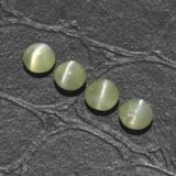 thumb image of 0.4ct Round Cabochon Golden Green Chrysoberyl Cat's Eye (ID: 294808)
