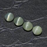 thumb image of 1.7ct Round Cabochon Golden Green Chrysoberyl Cat's Eye (ID: 294840)