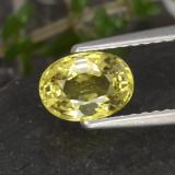 thumb image of 1.1ct Oval Facet Golden Chrysoberyl (ID: 353904)