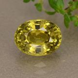 thumb image of 1.9ct Oval Facet Greenish Golden Chrysoberyl (ID: 353961)