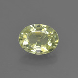 thumb image of 1.5ct Oval Facet Golden Green Chrysoberyl (ID: 366300)