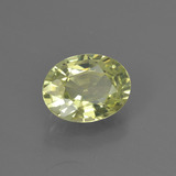 1.48 ct Oval Facet Golden Green Chrysoberyl Gem 8.08 mm x 6.1 mm (Photo B)