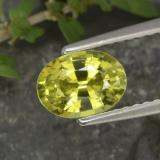 thumb image of 1.2ct Oval Facet Golden Green Chrysoberyl (ID: 366328)