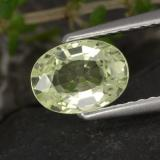 thumb image of 1.2ct Oval Facet Golden Green Chrysoberyl (ID: 366371)